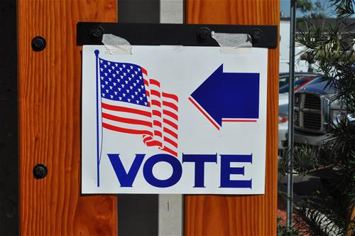 Image of a 'Vote' sign