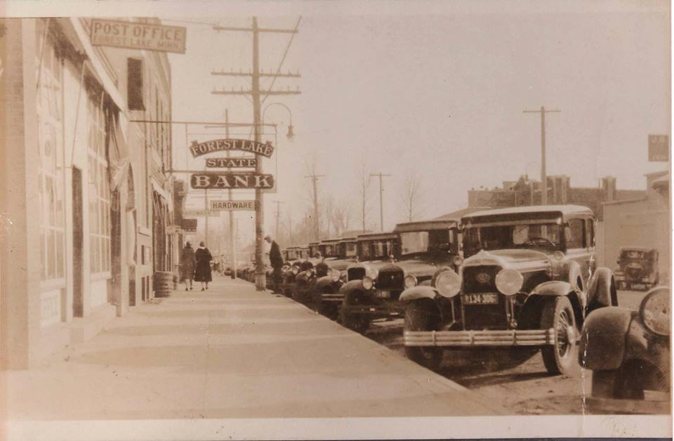 Historical image of Main St. in Forest Lake